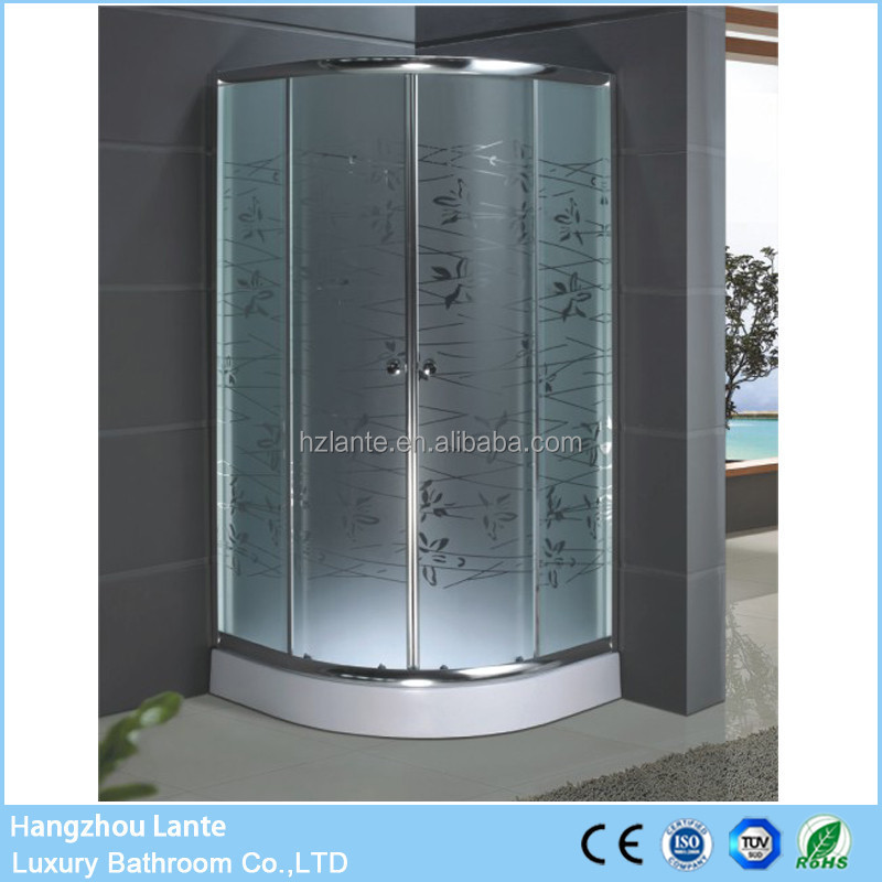 Small Sliding Bubble Glass Shower Door