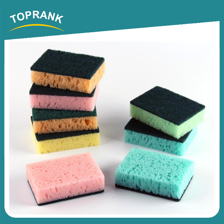 Toprank New Style Home Kitchen Scrubber Sponge Scouring Pad Wash Dish Cleaning Scrubber Sponge
