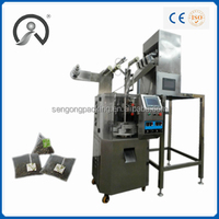 SG5028stainless green tea drink plastic preformed bag filling sealing packing machine in china