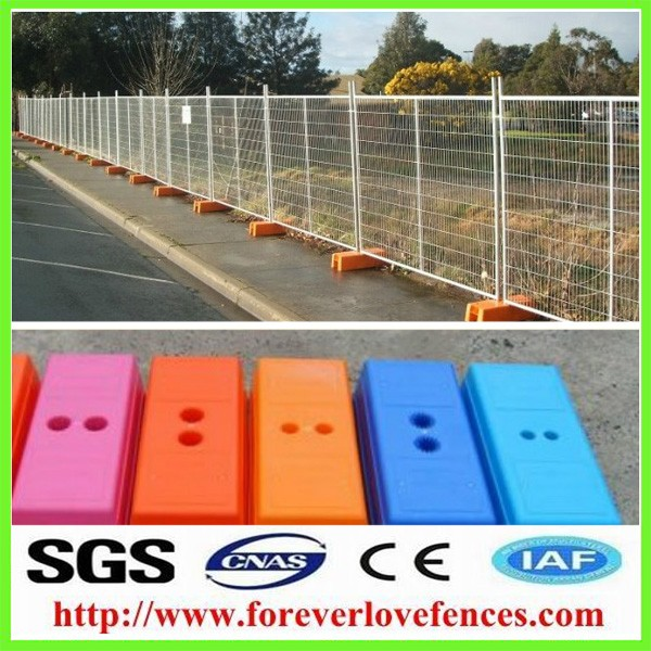 brace galvanized temp temporary fence/fencing