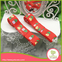 Fashion Printed Grosgrain Ribbon Barrettes hair clips Headwear