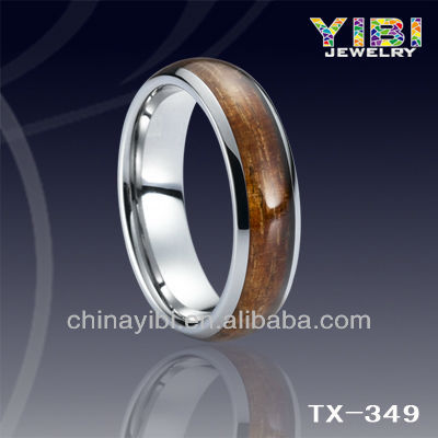 Natural Wood Inlay Tungsten Ring my style jewelry wholesale western jewelry supplies