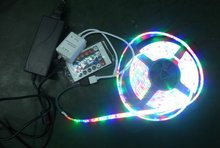 5M RGB 3528 Flexible Waterproof 300 Led Strip Light +24 Keys IR Remote controller+power adaptor