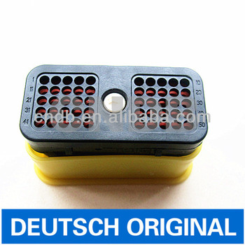 Original TE/Deutsch auto Connector DRC series 50way/50pin/50pole DRC26-50S01 with yellow cap