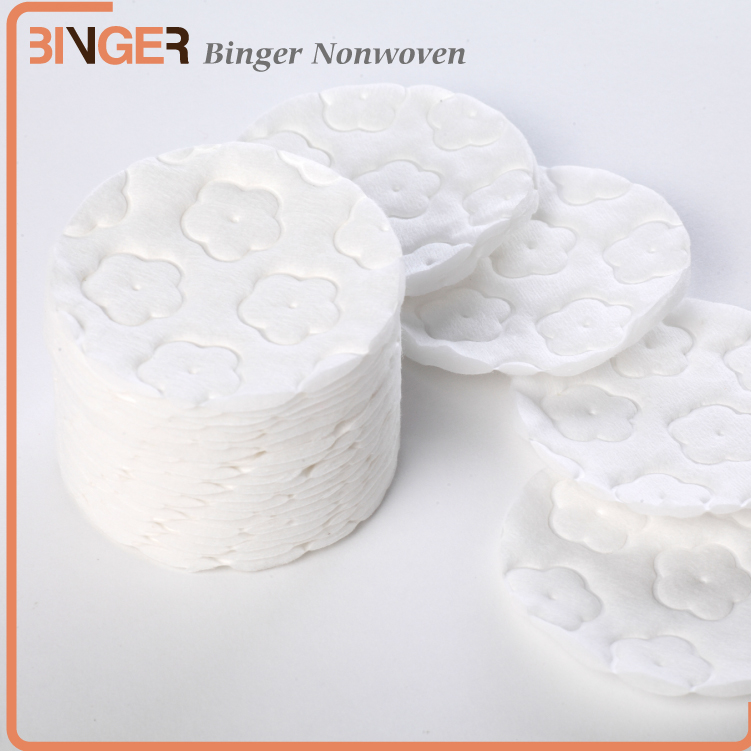 Pure embossed cosmetic cotton facial pads manufacturers