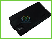 balck phone leather case for LG phone cover