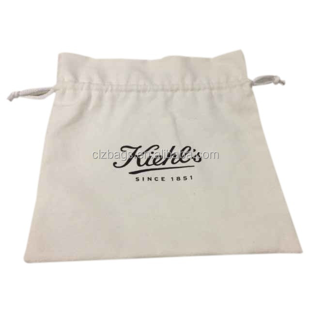 Wholesale plain canvas drawstring cosmetic bag