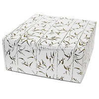 New Design White Poppies printed flower paper gift box