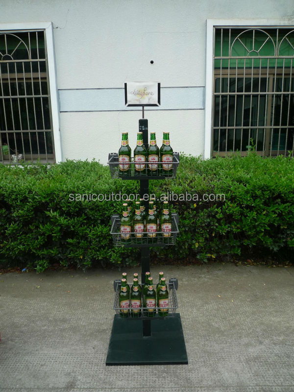 Beer display rack for supermarket