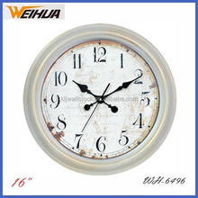 16 inch antique finished plastic wall clock for kitchen