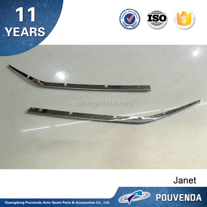 Manufacture ABS Chrome Front Grille Trims For Toyota Land Cruiser 2016 accessories From Pouvenda