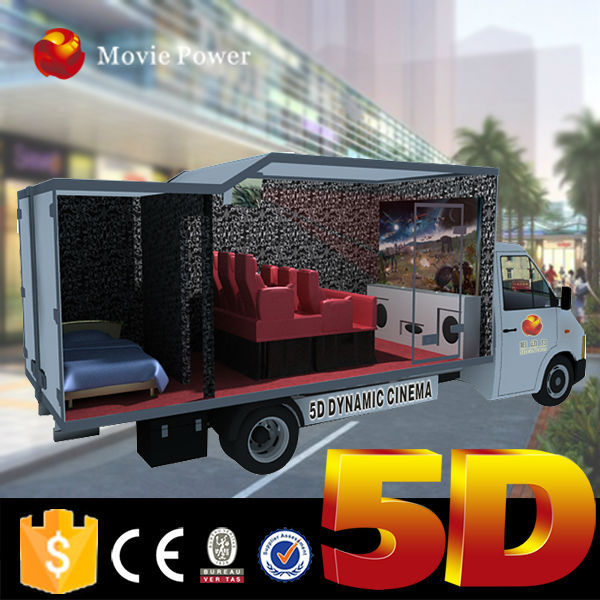 Attactive idea outdoor 5d theater 5d movie 5d cinema 5d mobile truck guangzhou