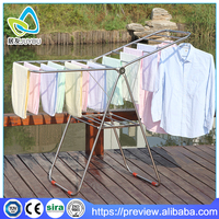 expandable retractable cloth hanger stand