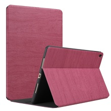 Hot sale pc + leather wooden grain cover for ipad mini4 shockproof case
