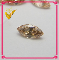 marquise cut synthetic cubic zircon champagne gem stone
