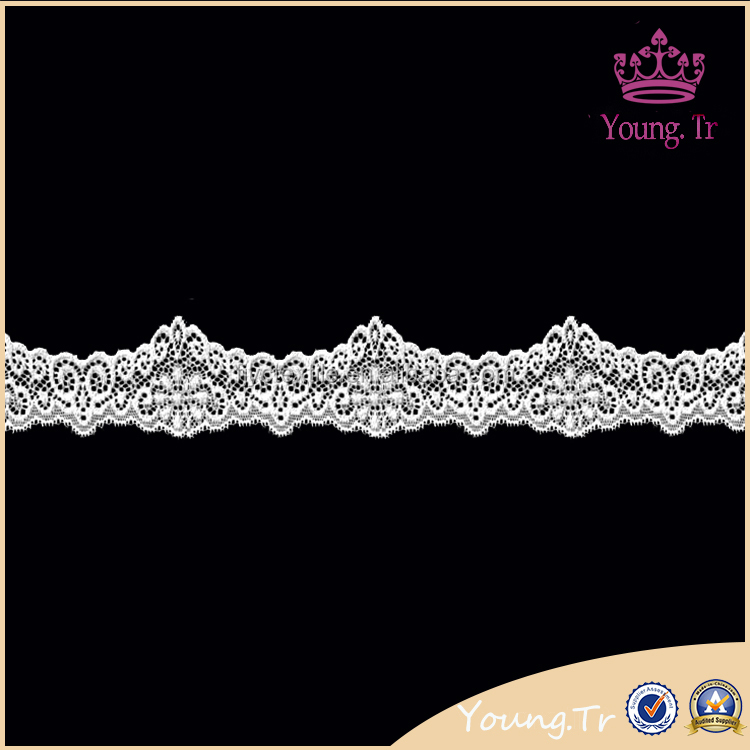 2016 organza lace scalloped tricot lace trim