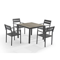 Power coating aluminium frame outdoor table garden table&chair