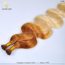 New Product Arrival Hot Sale Big Dscount Italian Glue Top Quality l tip hair extensions deep wave 1b 300 strands