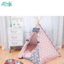 Pet Teepee Tent Dog& Cat Bed Portable Pet Tents & Houses For Dog& Cat