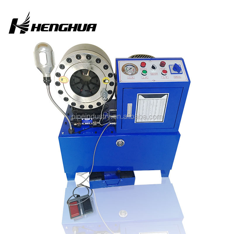 "<strong>1</strong>/4""~2"" Finn Power Used Hydraulic Hose Led Bulbs Cap Crimping Machine With CE ISO"