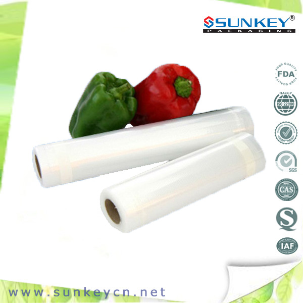 Food grade transparent vacuum food storage bag