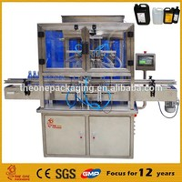 professional manufacturer automatic liquid soap oil .cosmtics ,shampoo gel filling machine TOACF500-4 with CE certificate