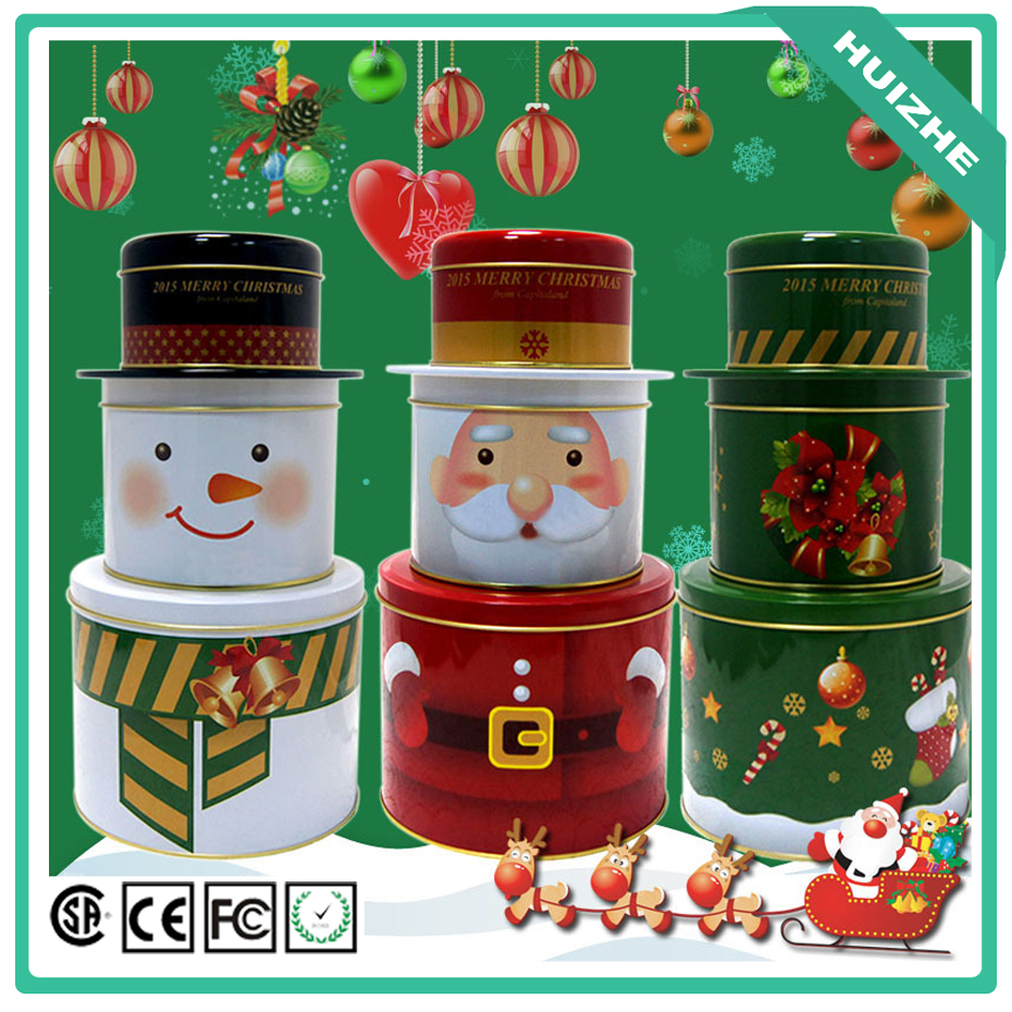Three Layer Seal Candy Storage Box Tea Caddy Receive Box Tin Box Container Household Storage Bottles Jars