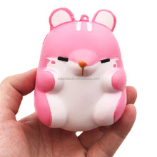 2018 New Year Cartoon Mouse Doll Kawaii Soft Squishy Slow Rising Pink Mouse Squeeze Toys for Kids Stress Relief