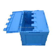 Plastic storage folding crate with different models