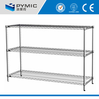 Chrome wire mesh rack,kitchen wire shelving and metal rack,collapsible steel wire shelving