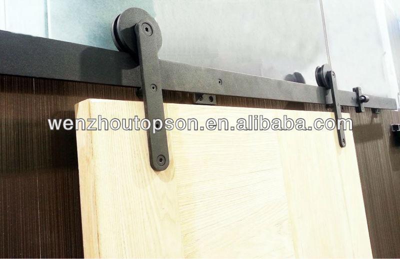 noir enduit de poudre en bois coulissante grange quincaillerie de porte kit portes id de produit. Black Bedroom Furniture Sets. Home Design Ideas