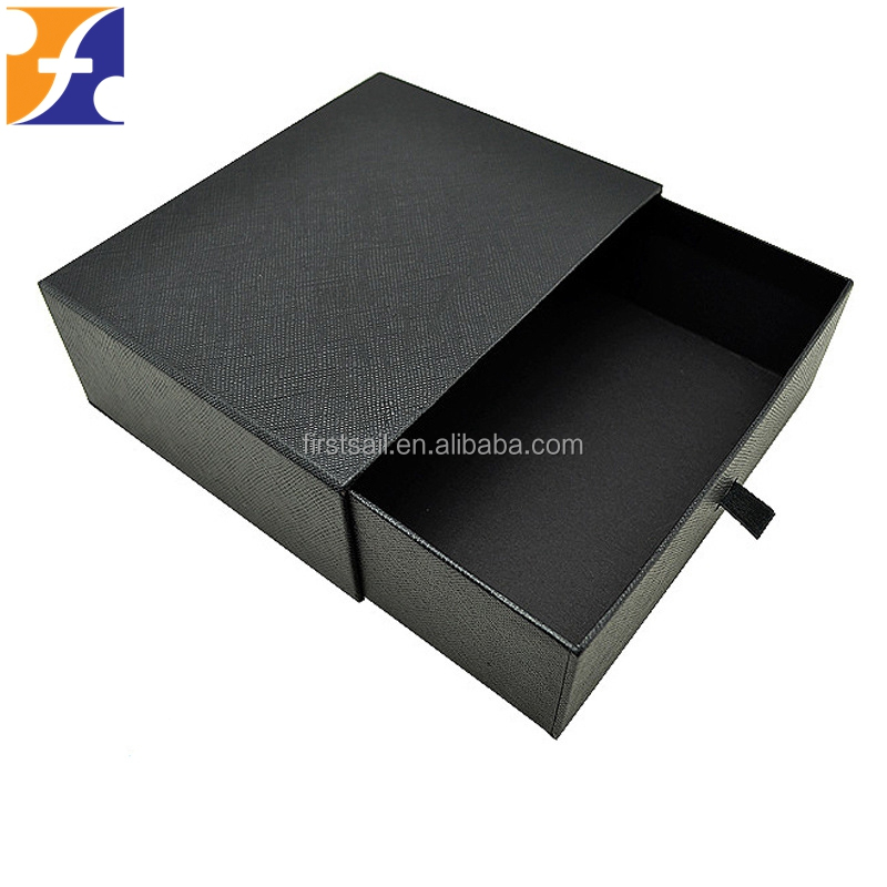 custom spot UV logo cardboard drawer box with pull tab