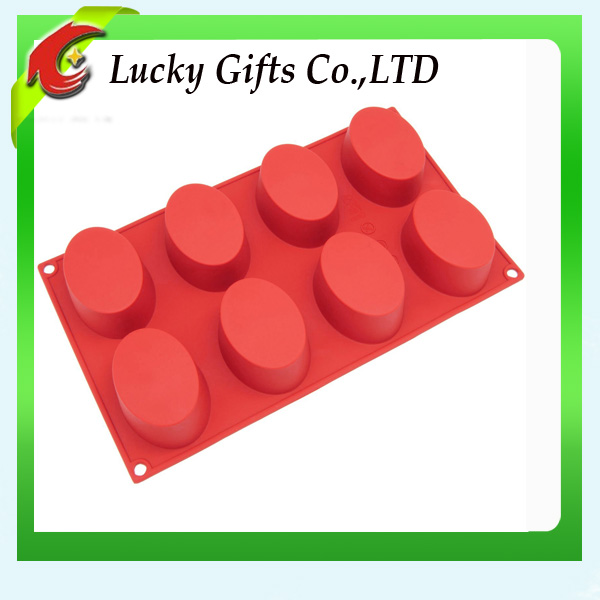 Hot sale Eco-friendly soap mold silicone oval cake molds