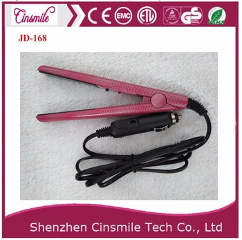 Portable Car Charger Hair Straightener Flat Iron JD166A