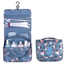 Multifunctional Hanging Style Flowers Pattern Travel Toiletry Pouch Wash Gargle Bag makeup bag
