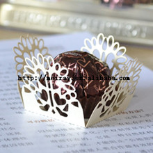 Chinese laser cut paper crafts mini candy wrappers, wrappers for mini cupcakes