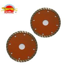 2018 newest 4 Inch Continuous Wide Teeth granite Diamond saw Blade cutting granite Turbo with Cooling Holes