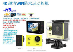 2016 New Factory Direct Original H9 4K WIFI Waterproof Full HD 1080P Action Camera Mini Camera Extreme Sports