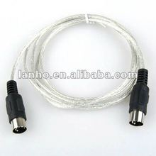 MIDI Interface 5 Pin MIDI Cable 9 ft Male to Male