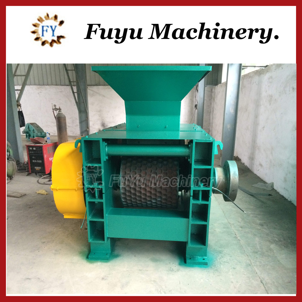 Twice pressure and first class raw coal ball press machine / semi coke powder briquette machine
