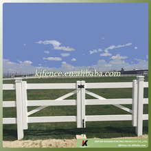 3 rail pvc horse/ranch/farm fence gate