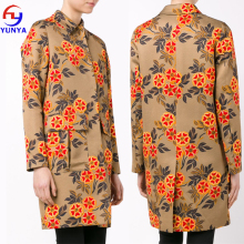 Wholesale western-style fashion women winter plus size flower print coat
