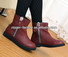 Hot Sale! Fashion Metal Zipper for boots/shoes
