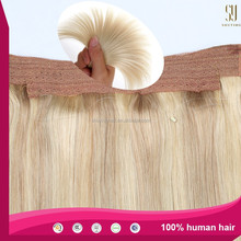 6A grade 100% human remy hair extension hair bun for black women with hair extension packaging