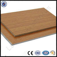 Wood Plastic Exterior Wall Cladding aluminium composite panel/ ACP for wall cladding
