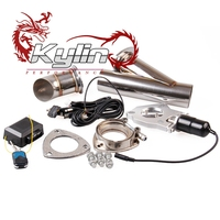 "Kylin racing 2"" 2.25"" 2.5"" 3"" Electric Exhaust Downpipe Cutout E-Cut Out Valve System Kit with Remote"