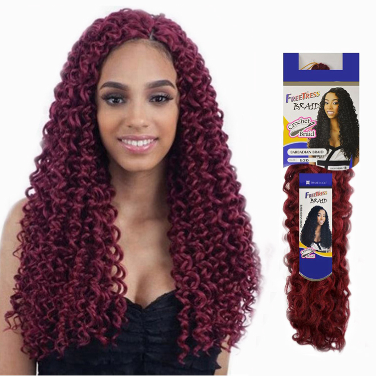High Quality 18inch 45cm Freetress Bohemian Braids Ombre Crochet