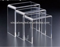 clear acrylic coffee table or acrylic end table with 3 pieces