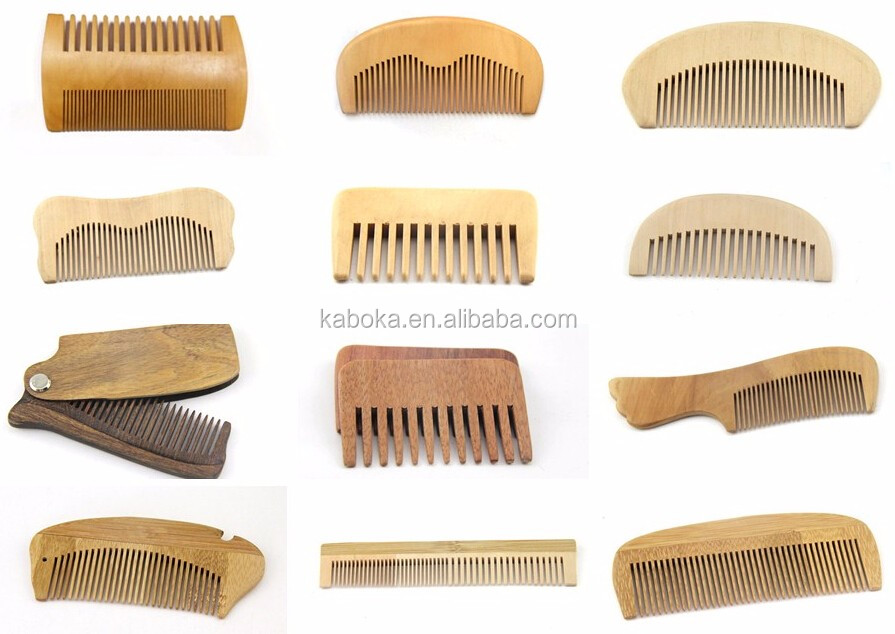 Hotel disposable comb, travel bamboo hair comb and custom made wood hair brush