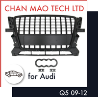 ABS Auto Body Kit Accessories Black Front Grill For Audi Q5 09-12